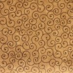 Brown Tilt-A-Whirl Quilt Backing Fabric
