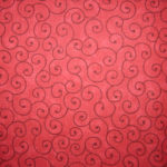 "Red Tilt-A-Whirl 108"" Quilt Backing Choice Fabrics"