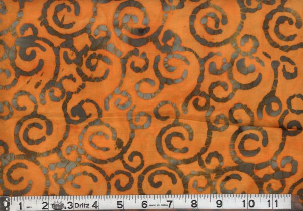 WQB-16 Orange Swirl Batik