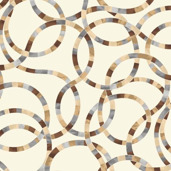 Studio E 4080-34 Earthtones Lazy Loops Quilt Backing