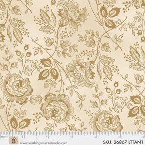 4704_26867_LTTANROSES Light Tan Roses Wide Quilt Backing