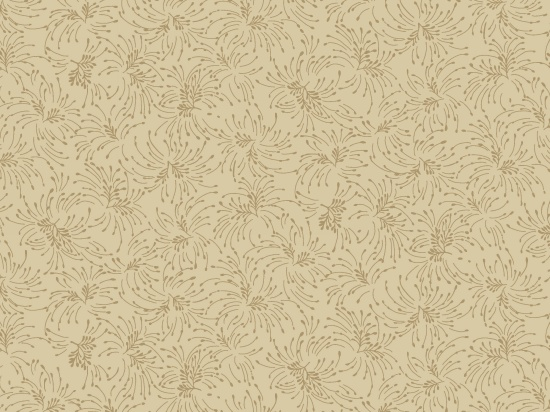 9196-30 Beige Small Twig Bouguets Chloe Extra Wide Quilt Backing