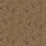 9196-35 Brown Small Twig Bouguets Chloe Extra Wide Quilt Backing