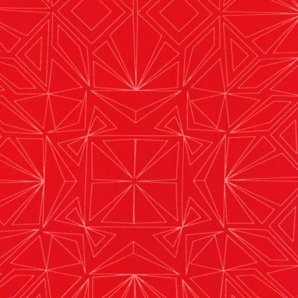 AWTX163453 Red Fractal Extra Wide Quilt Backing