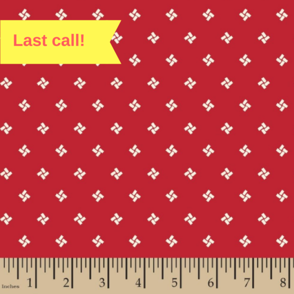 56991-D650718 Red Signature Extra Wide Quilt Backing