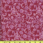 "BD-47604-1506 Dark Pink Tonal Scroll 108"" Extra Wide Quilt Backing"